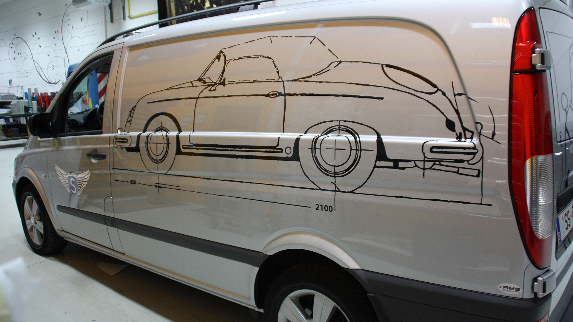 sticker bedrijfswagen