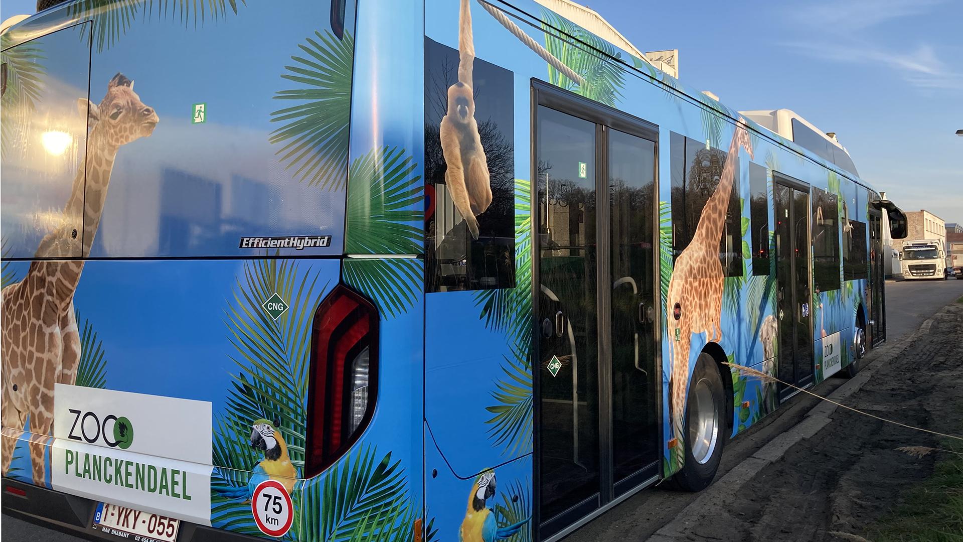 Bus bestickering
