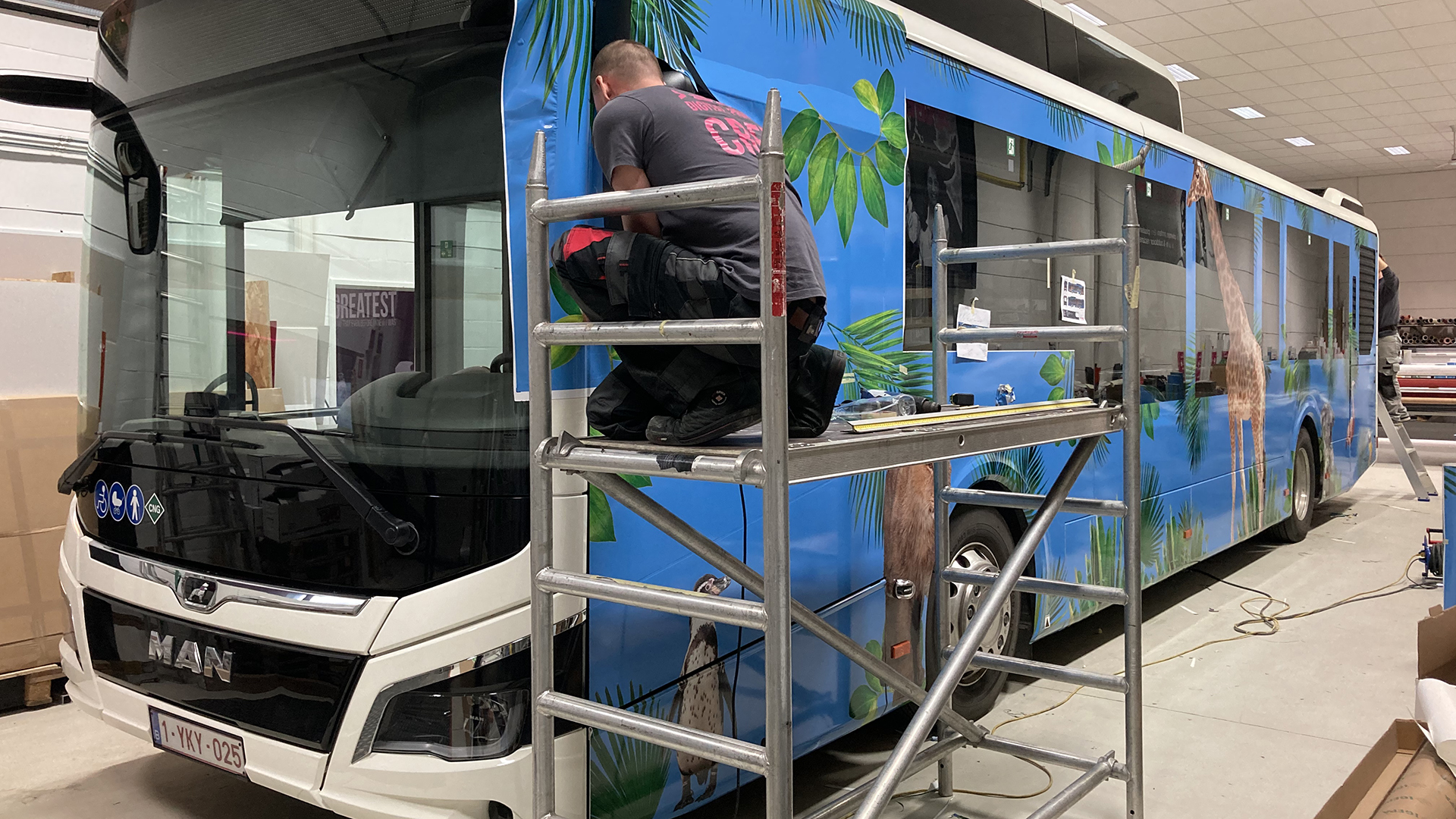 Bus wrapping