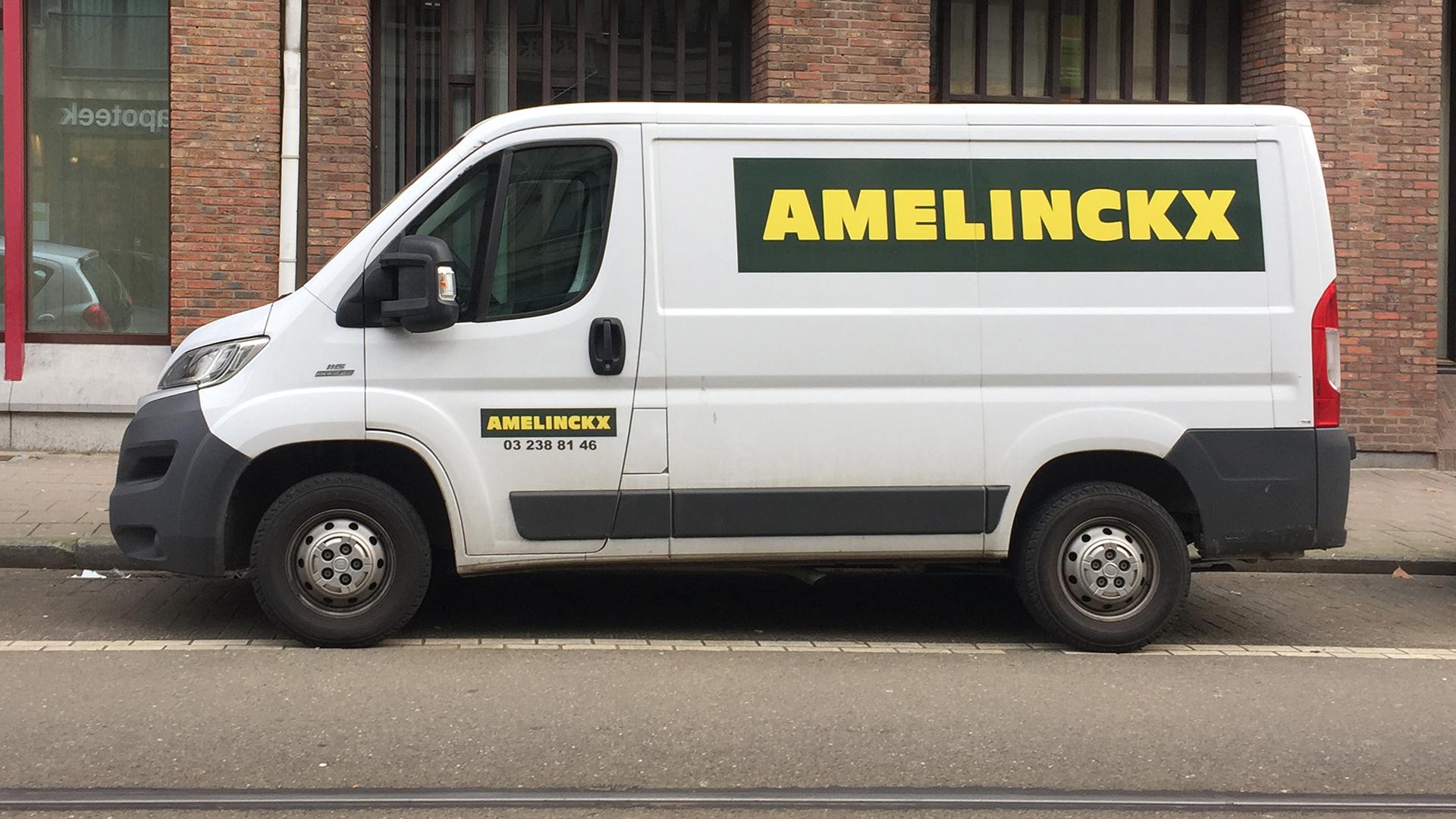 Belettering camionette Antwerpen