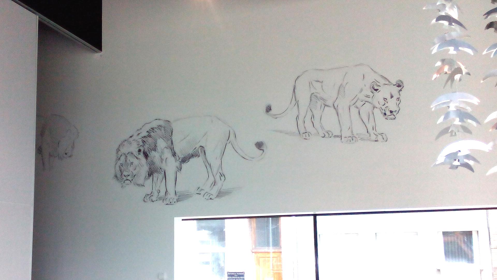 muurdecoratie zoo
