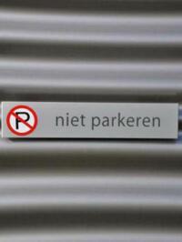 Wandparkeerbord Park