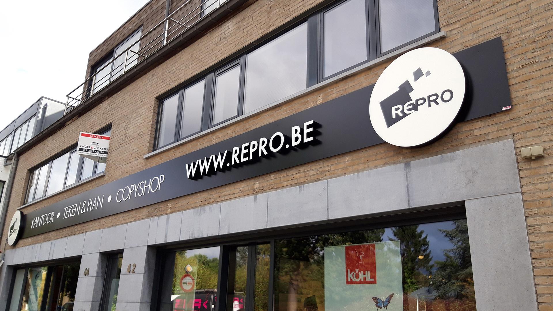 Geveldecoratie lichtbakken Antwerpen