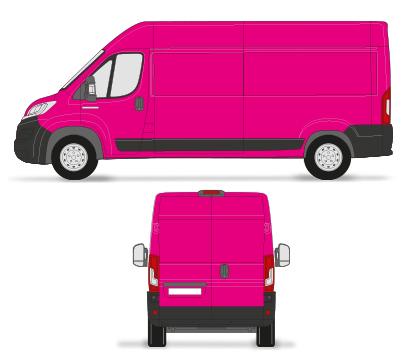 bestelwagen colour wrap reclame