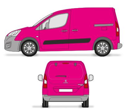 Kleine Bestelwagen colour wrap