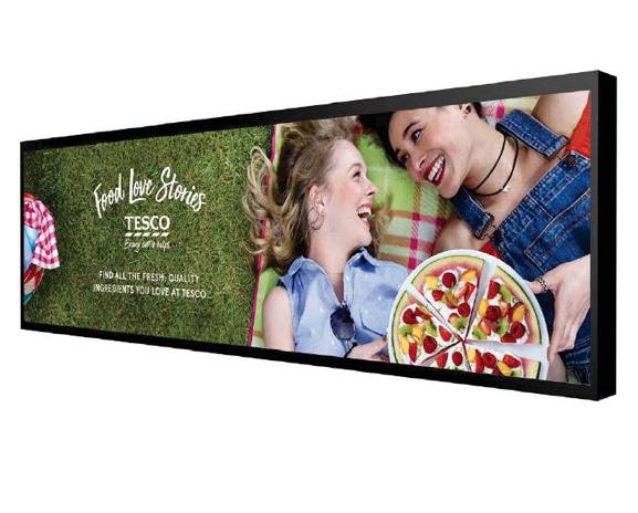 Digital Signage Ultra Wide Stretched Displays