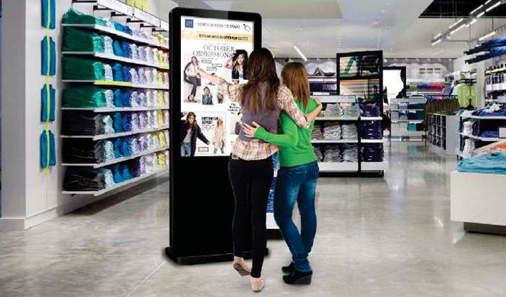 Freestanding Touch Screen