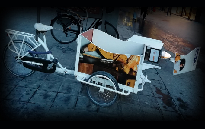 Bakfiets stickers reclame