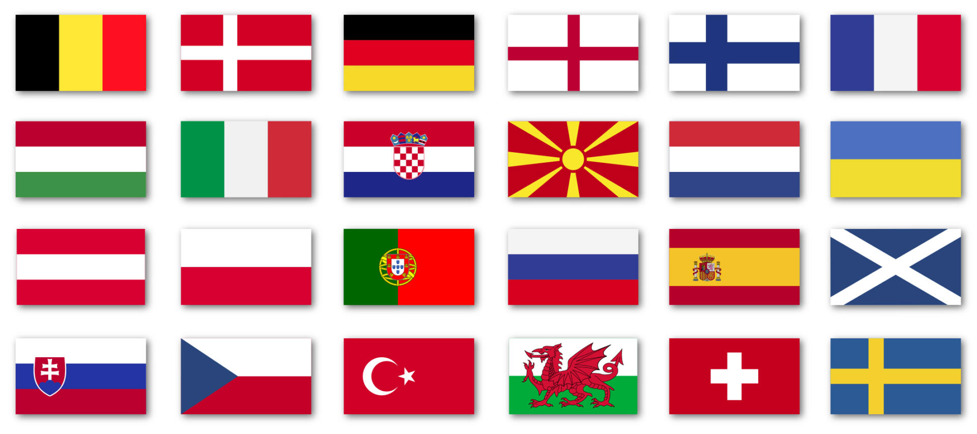 Landenvlaggen EK-2021